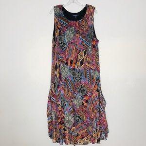 Roaman's Women's A-Line Handkerchief Dress Sz 24 W
